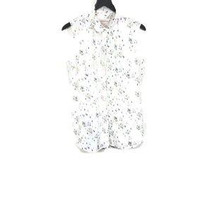 Merona Sleeveless Button Up Shirt Size Large
